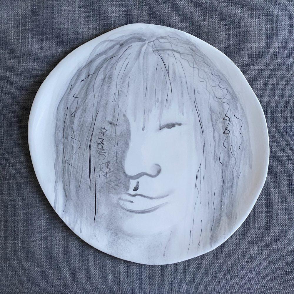 Ceramic Plate-Tattoo Series